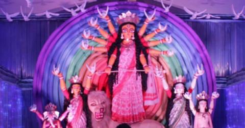 Salt Lake AK Block Durga Puja 2013