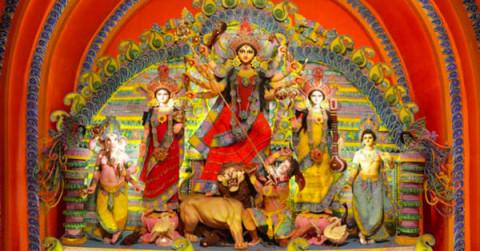 Shib Mandir Durga Puja 2013